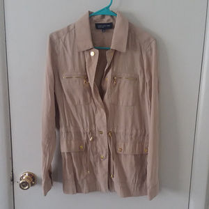 Jones New York Tan Lightweight Jacket